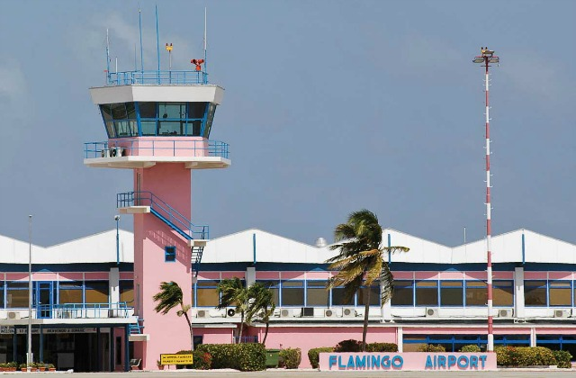 Flamingo airport in Bonaire