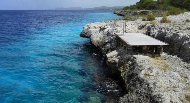 Our Top 10 List Villa Lunt Bonaire vacation rental Cliff Diving