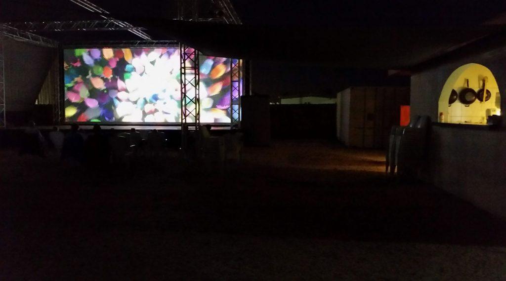 Bonaire Outside Movie Theatre