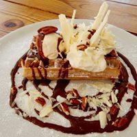 La Creperie Belgian waffles Villa Lunt Bonaire Vacation Rental