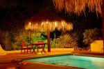 The Tiki Hut At Night
